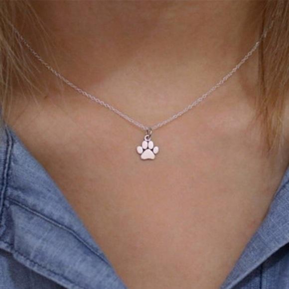 Jewelry - Paw Silver Necklace FIRM PRICE